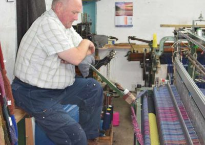 At Work at Harris Tweed Hebrides
