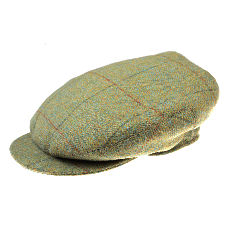 Beauly Cap, Green with Brown Check