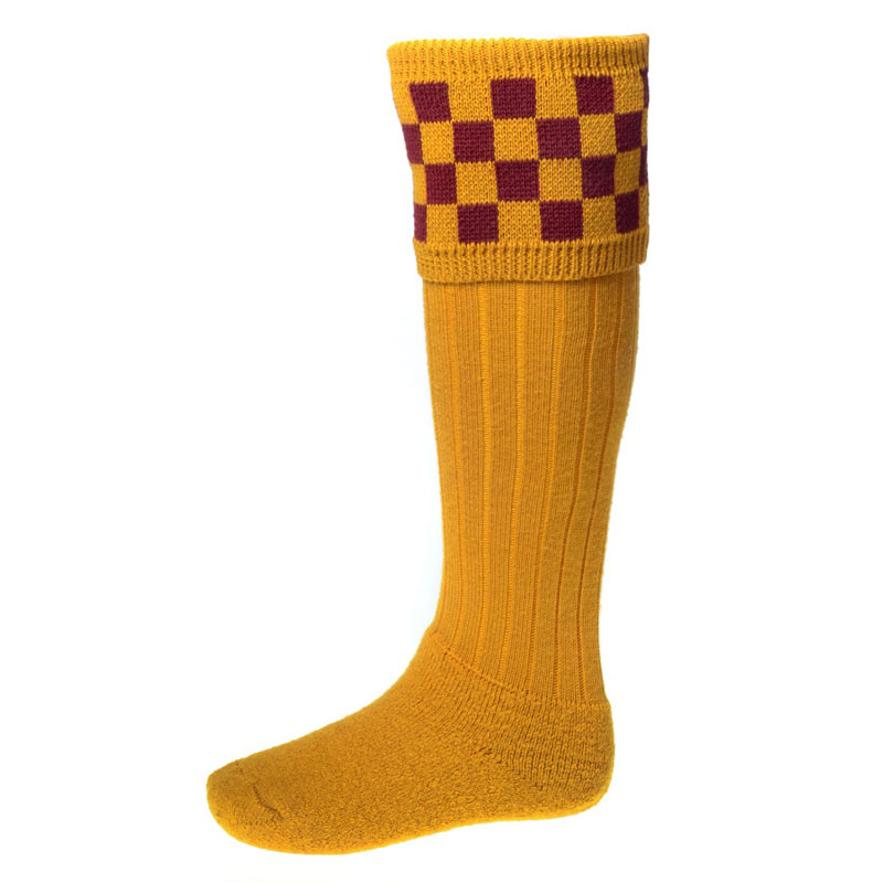 Bowmore Shooting Socks, New Mustard/Claret