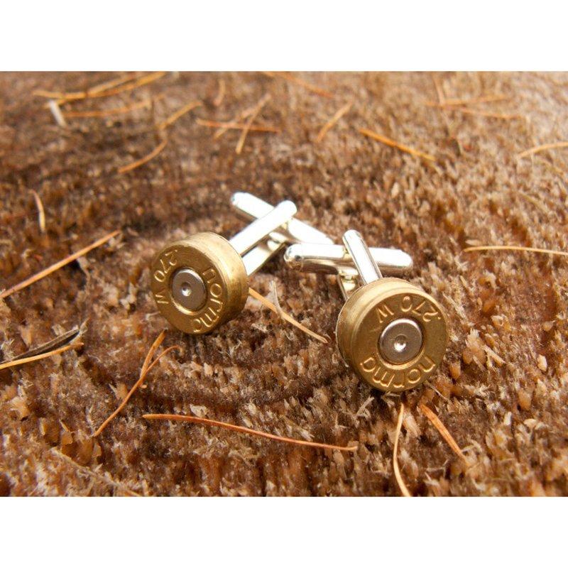 Bullet Cufflinks, Silver Plated