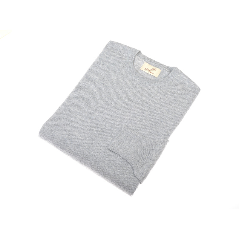 Cashmere Crew Neck Jumper, Felt Grey