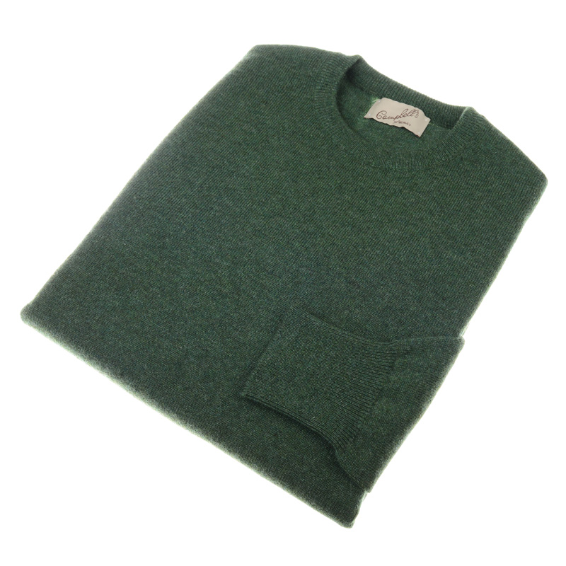 Cashmere Crew Neck Jumper, Serpentine