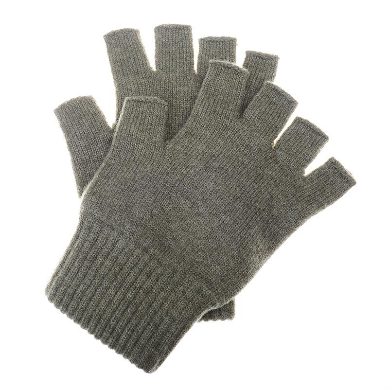 Cashmere Fingerless Gloves, Thyme