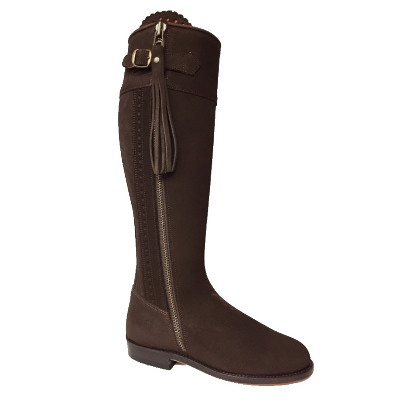 Chocolate Suede Spanish Knee High Boots