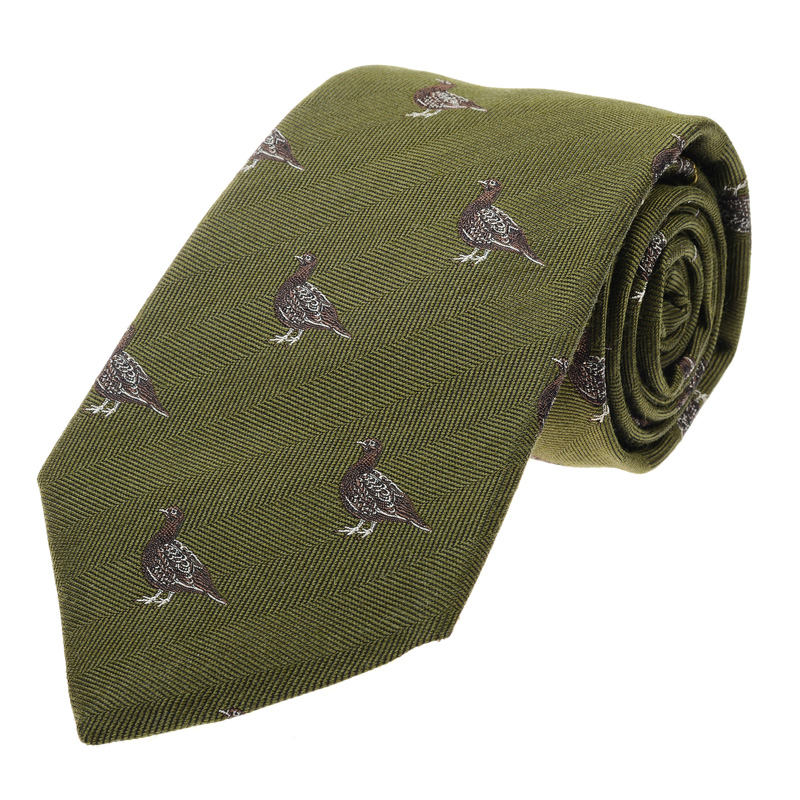 Female Grouse Tie, Green