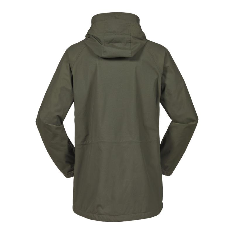 Fenland Packaway Coat, Dark Moss, Back