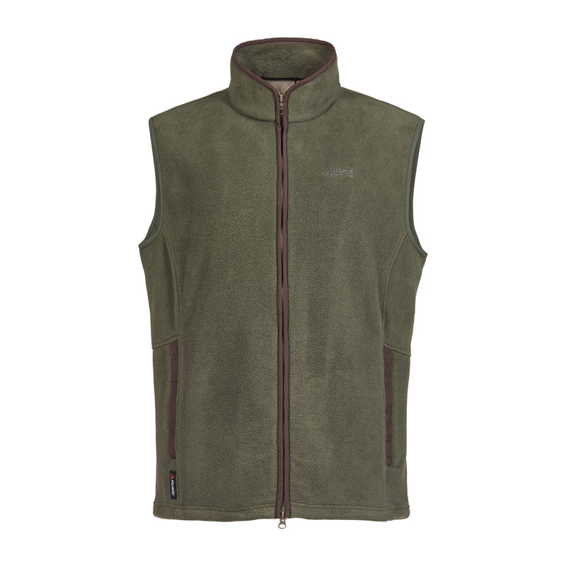 Glemsford Polartec Fleece Gilet, Dark Moss
