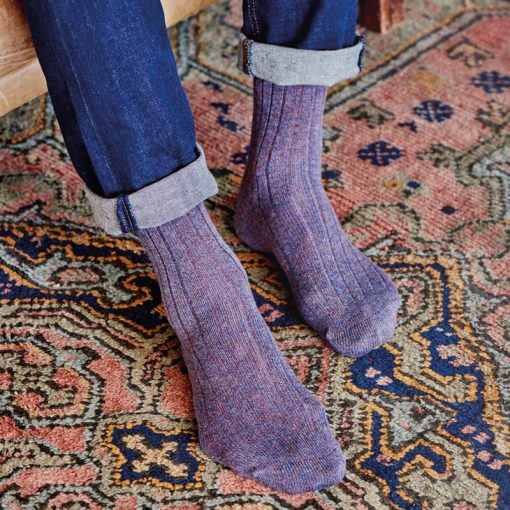 cashmere socks on model