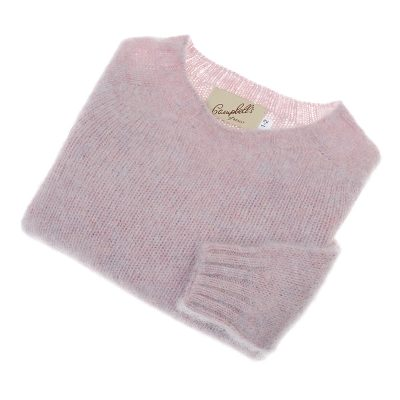 childrens shetland wool jumper pink haar