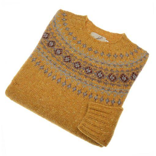donegal jumper with fairisle pattern colour gara