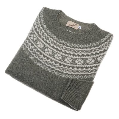 ladies green fairisle jumper