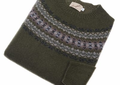 ladies fairisle jumper colour lichene