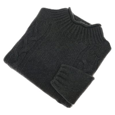 ladies green cable knit jumper