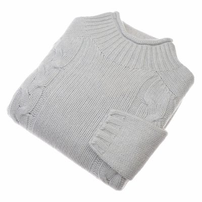 double cable knit jumper