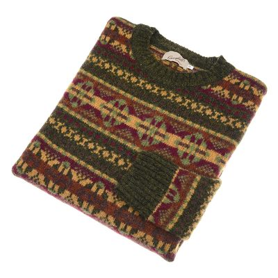 mens fairisle jumper pineshadow