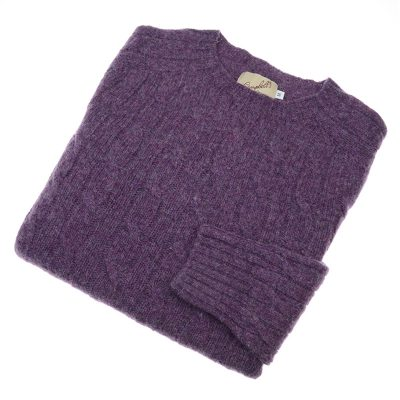 purple cable knit jumper