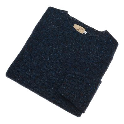 donegal blue wool jumper