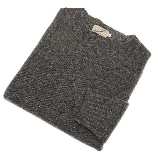 donegal wool jumper colour grey