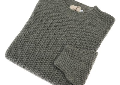 mens moss stitch crew neck jumper