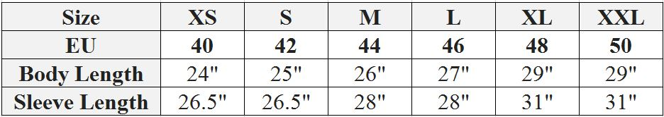 Scotia jumpers size chart