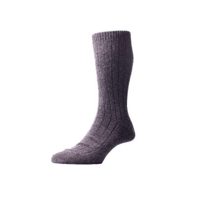 Cashmere mens evening socks, Charcoal