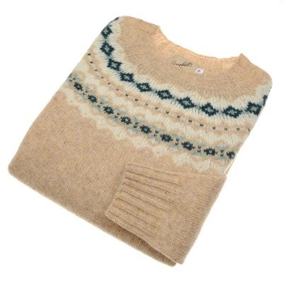 fairisle jumper tusk