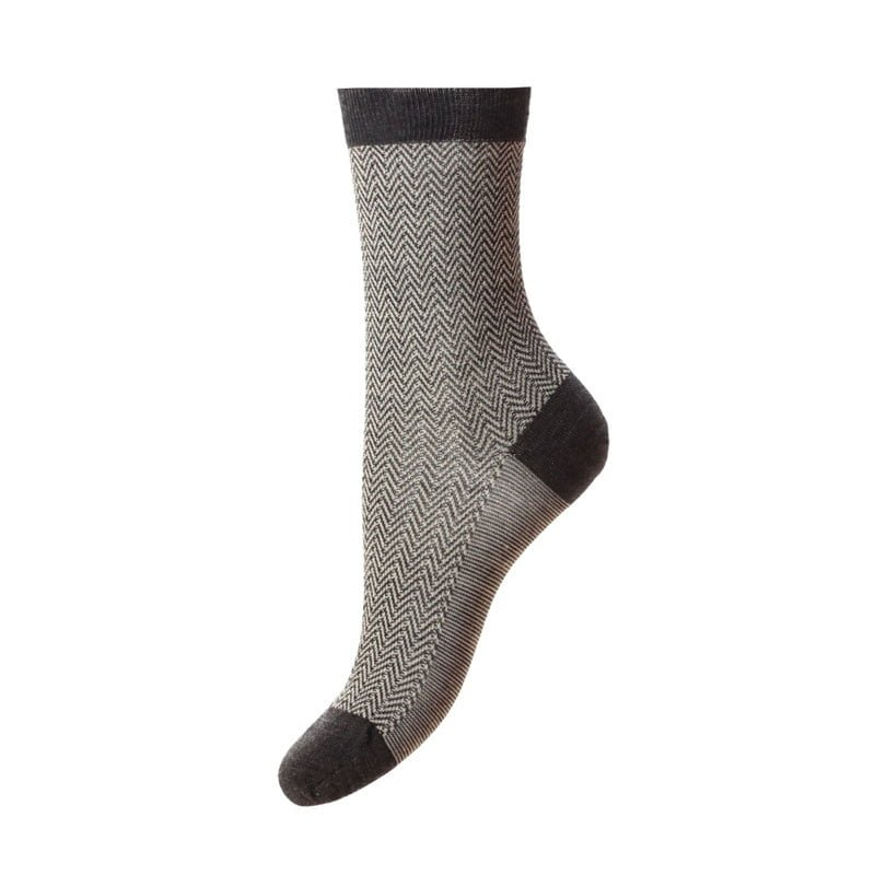 Ladies Hatty Socks, Charcoal