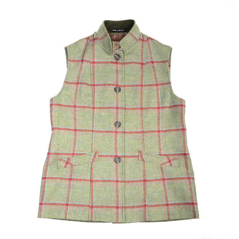 Ladies Tweed Nehru Collar Gilet