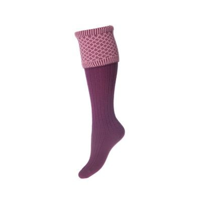 Lady Queensbury Socks, Bilberry Rose