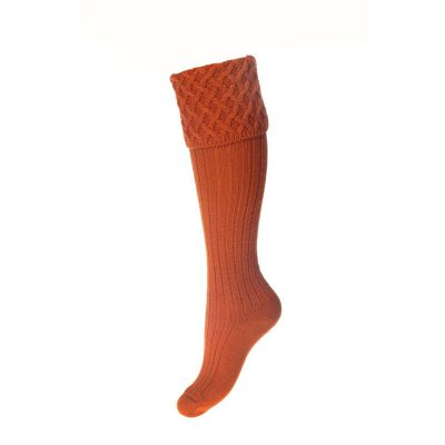 Lady Rannoch Socks, Burnt Orange