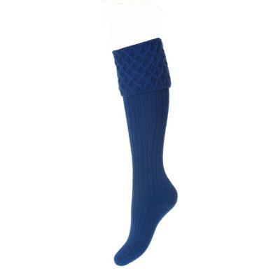 Lady Rannoch Socks, Mid Blue