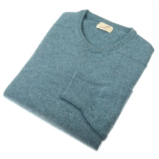 Lambswool Crew Neck Jumper, Caspian