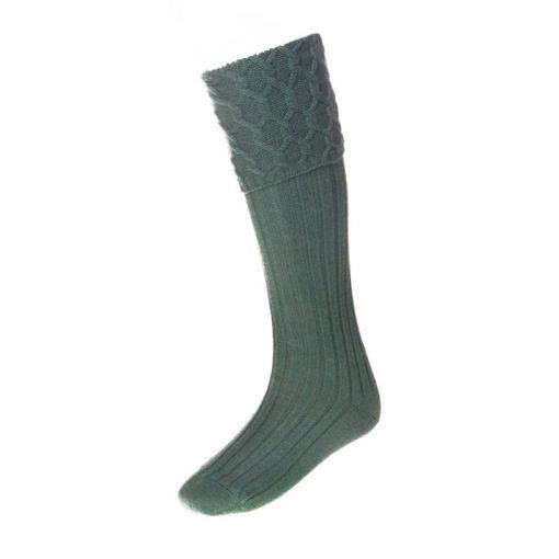 Lewis Celtic Kilt Sock, Ancient Green