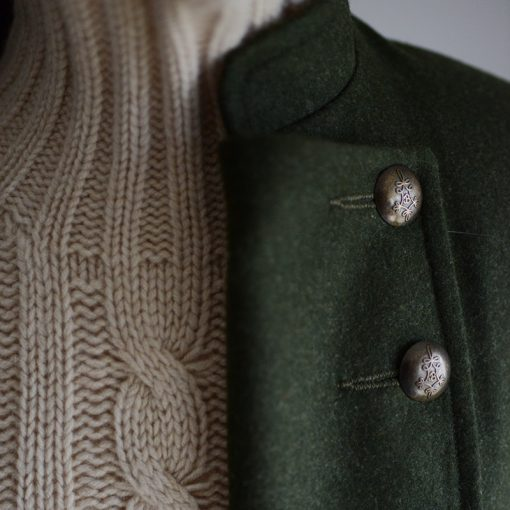 loden pirate jacket detail