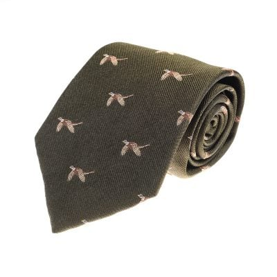 Pheasant Flying Tie, Green