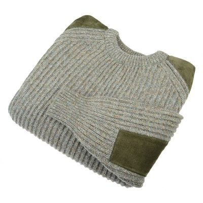 Scotia Shooting Jumper, Suede Patches
