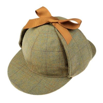 Sherlock Holmes Hat, Green, Brown, Grey & Yellow