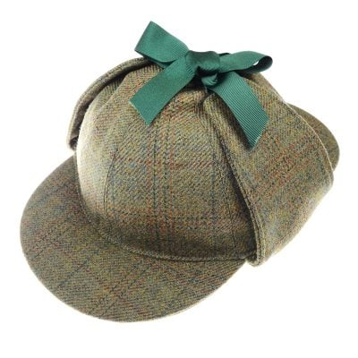 Sherlock Holmes Hat, Green, Brown & Orange