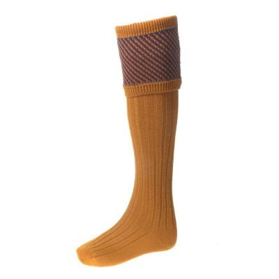 Tayside Shooting Socks, Ochre
