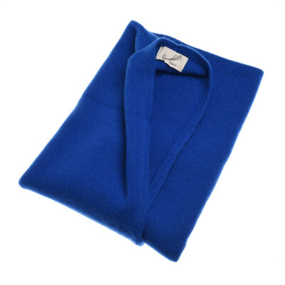 royal blue knitted poncho