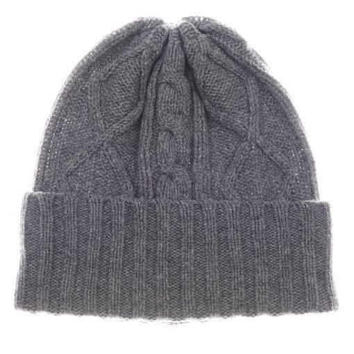 aran hat grey mix