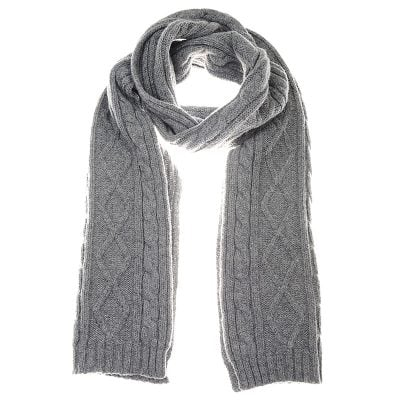 aran scarf grey mix