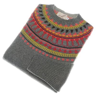 fairisle jumper moss