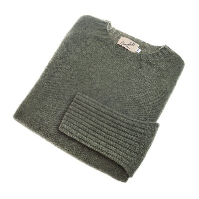 moss green wool jumper