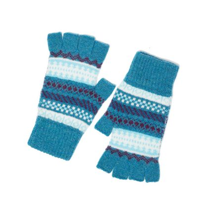 morven fingerless gloves aqua