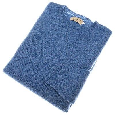shetland wool crew neck jumper blueprint