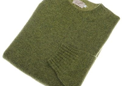 shetland wool crew neck jumper olivegrove