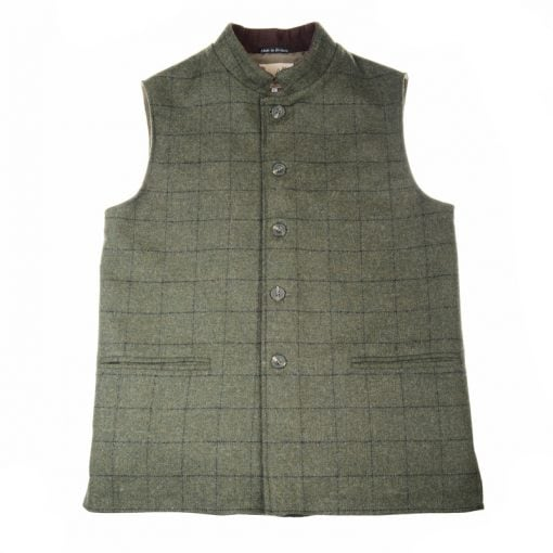 Tweed Gilet Loden and Crag