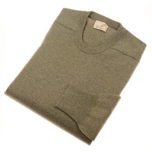 cashmere crew neck jumper moss