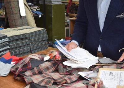 Colour matching the Hunting Macpherson tartan